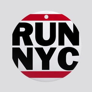 RUN NYC_light Round Ornament
