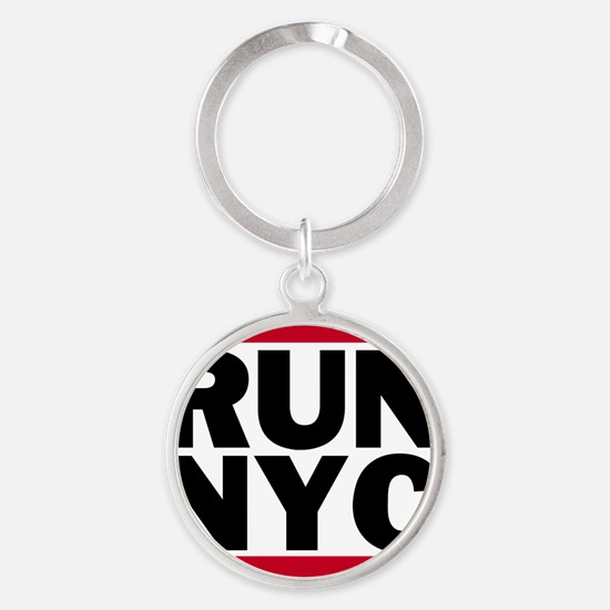 RUN NYC_light Round Keychain