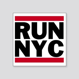 "RUN NYC_light Square Sticker 3"" x 3"""