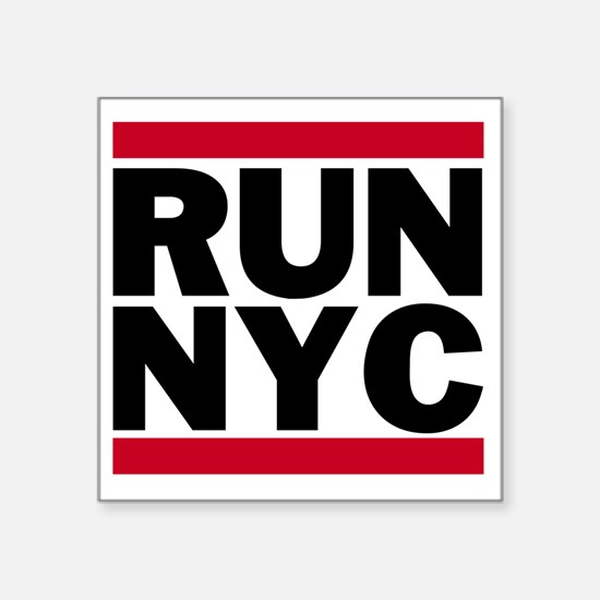 "RUN NYC_light Square Sticker 3"" x 3"""