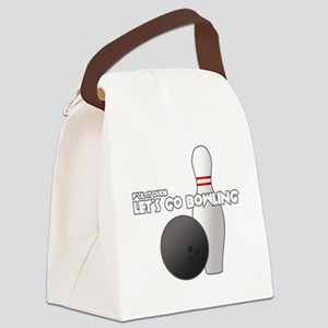 +letsgobowling Canvas Lunch Bag