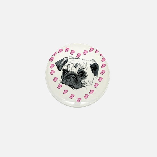 pugandhearts Mini Button