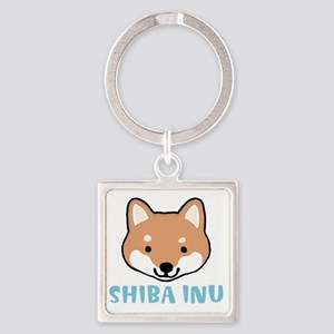 shibafacewords Square Keychain