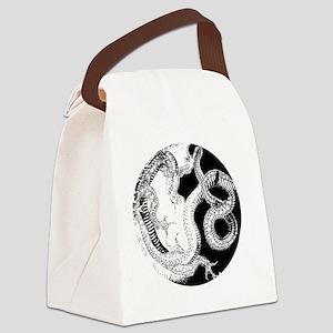 blackshirtyingyang Canvas Lunch Bag