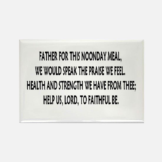 meal blessings Rectangle Magnet