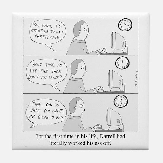 Darrells Ass Tile Coaster