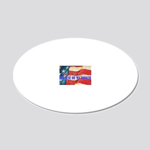 Land of the Free Brother 20x12 Oval Wall Decal