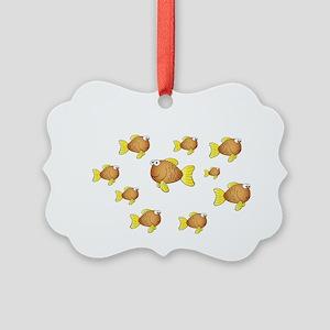 Homeschool Fish - Reverse Picture Ornament