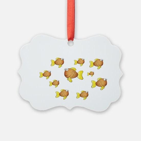 Homeschool Fish - Reverse Ornament