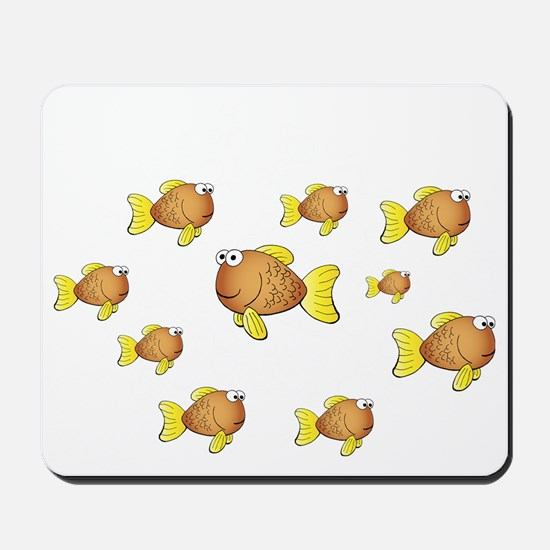 Homeschool Fish - Reverse Mousepad