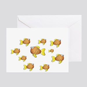 Homeschool Fish - Reverse Greeting Card