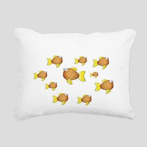 Homeschool Fish - Revers Rectangular Canvas Pillow