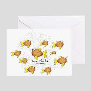 Homeschool Fish Greeting Card