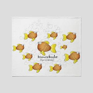 Homeschool Fish Throw Blanket