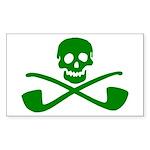 Leprechaun Pirate Rectangle Sticker