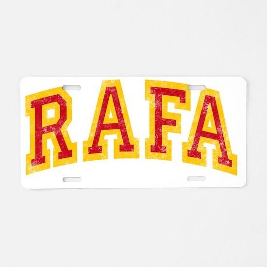 Rafa Red Yellow -dk Aluminum License Plate