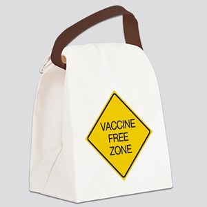 traffic sign for vaxx Canvas Lunch Bag