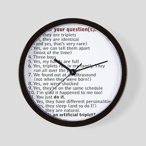 questions updated IDBBB Wall Clock