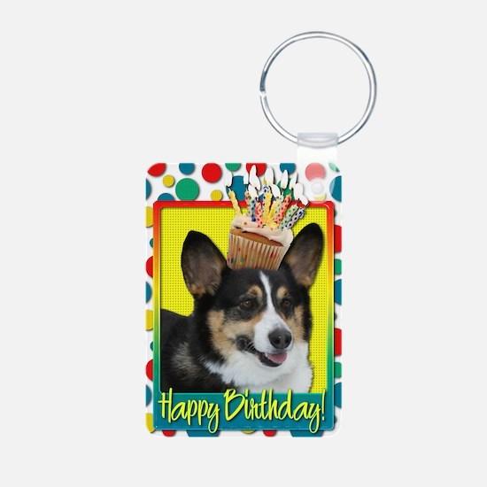 BirthdayCupcakeCorgi Keychains