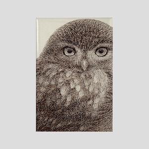 wild owl Rectangle Magnet