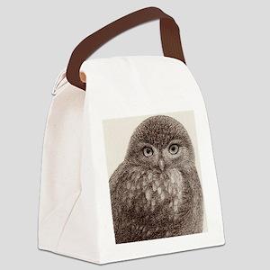 wild owl Canvas Lunch Bag