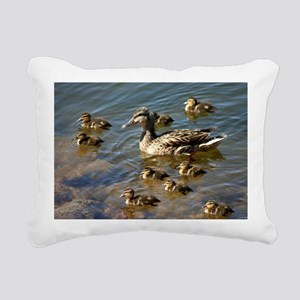 Big ducky family Rectangular Canvas Pillow
