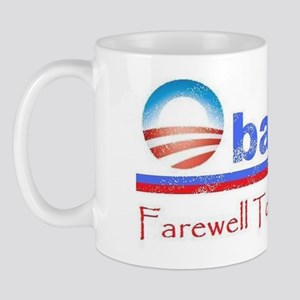 Obama farewell tour faded Mug