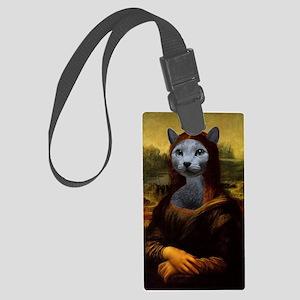 Mona Lisa Large Luggage Tag