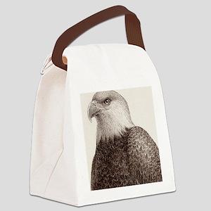 bald eagle 3x3h Canvas Lunch Bag