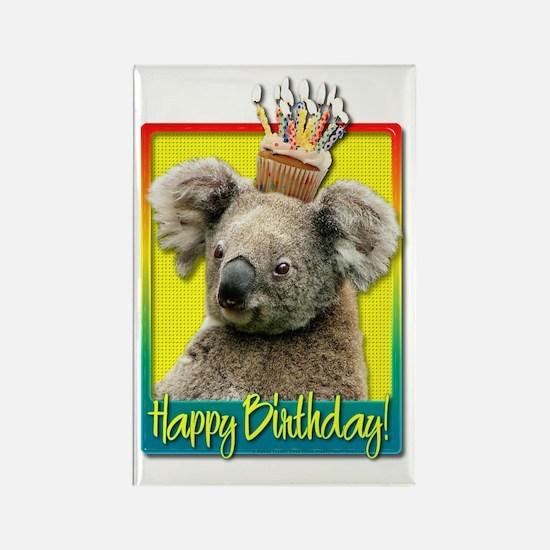 BirthdayCupcakeKoalaHB Rectangle Magnet