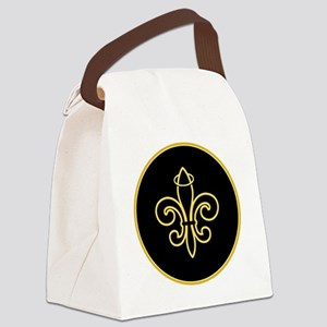 FleurSaintBGlgR Canvas Lunch Bag