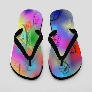 Mask on Rainbow iPad 2 case 6_9 x9_1 in Flip Flops