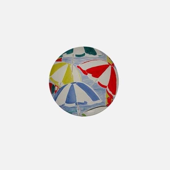 Beach Umbrellas Mini Button