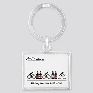 Cycling T Shirt - Riding for th Landscape Keychain