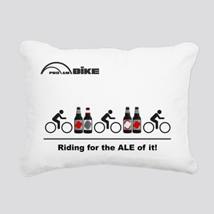 Cycling T Shirt - Riding Rectangular Canvas Pillow