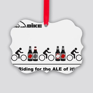 Cycling T Shirt - Riding for the  Picture Ornament