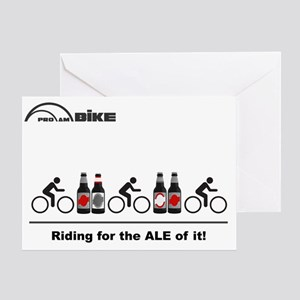 Cycling T Shirt - Riding for the ALE Greeting Card