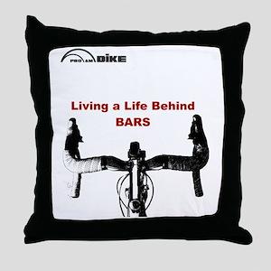 Cycling T Shirt - Life Behind Bars Throw Pillow