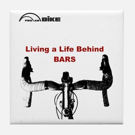 Cycling T Shirt - Life Behind Bars Tile Coaster