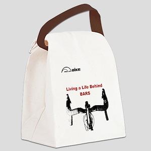 Cycling T Shirt - Life Behind Bar Canvas Lunch Bag