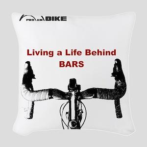 Cycling T Shirt - Life Behind  Woven Throw Pillow