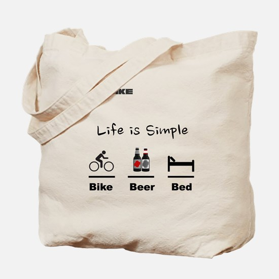 Cycling T Shirt - Life is Simple - Bike - Tote Bag