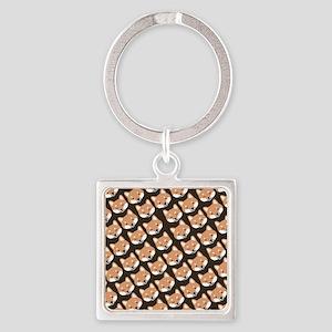 shibaflipflops Square Keychain