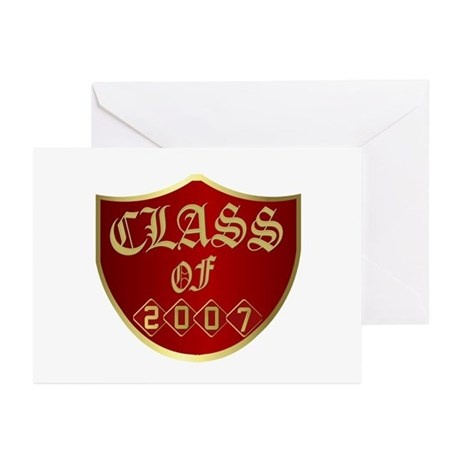 Class Of 2007 In Red Greeting Cards (Pk of 10)