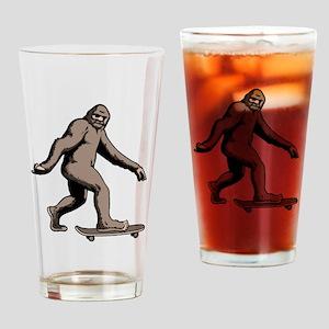 Squatch Boarder Drinking Glass