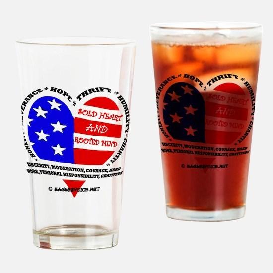 SOLD Heart design EV copy Drinking Glass