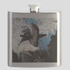 finback framed panel print Flask