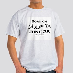 June 28 Birthday Arabic Light T-Shirt