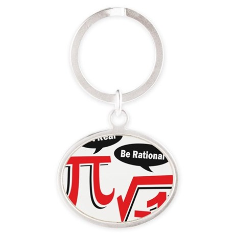 getrealberationalw Oval Keychain
