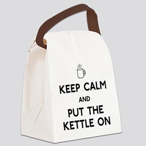 FIN-keep-calm-kettle-on-CROP Canvas Lunch Bag